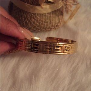 NEW Greek letter G gold bangle